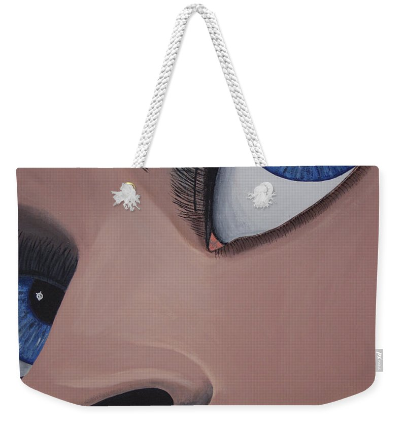 Eye Catching Weekender Tote Bag featuring the painting SHE by Dean Stephens