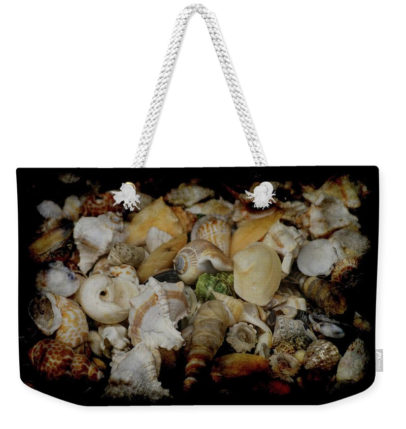 Shells Weekender Tote Bag featuring the photograph Shells by Ernie Echols