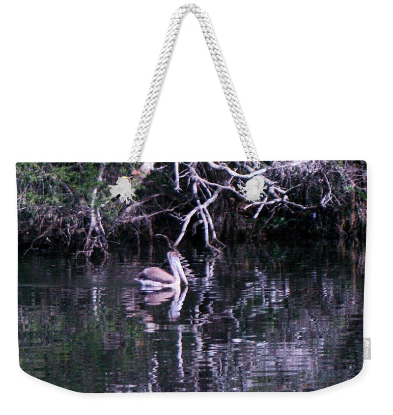 Roots Weekender Tote Bag featuring the photograph Shelter Beneath The Roots by Mechala Matthews