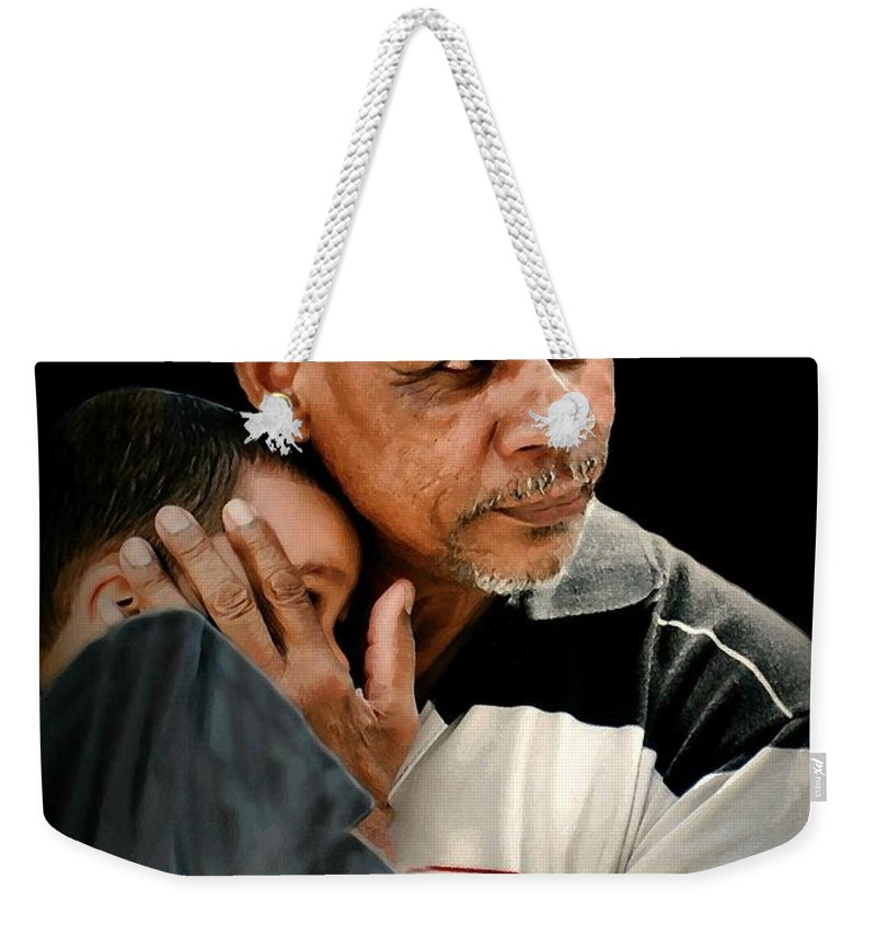 Candid Portrait Weekender Tote Bag featuring the photograph Shelter by Diana Angstadt
