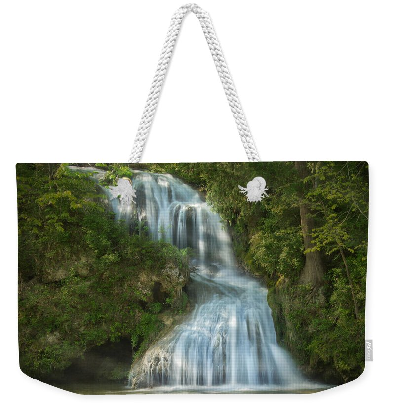 Jemmy Archer Weekender Tote Bag featuring the photograph Shenandoah Waterfall by Jemmy Archer