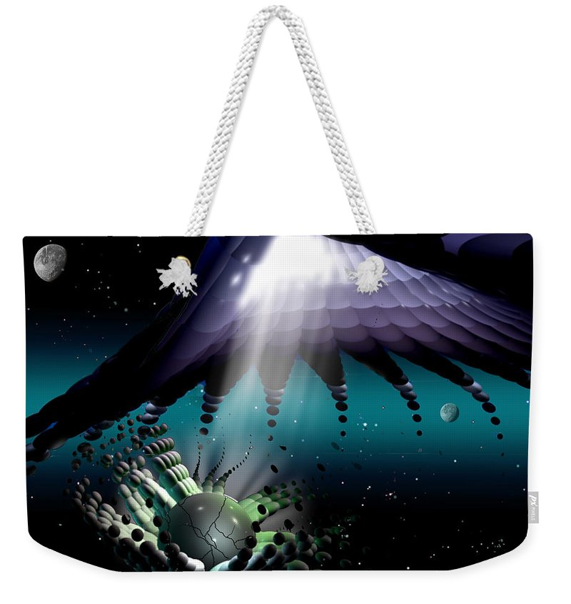 Phil Sadler Weekender Tote Bag featuring the digital art Shine by Phil Sadler