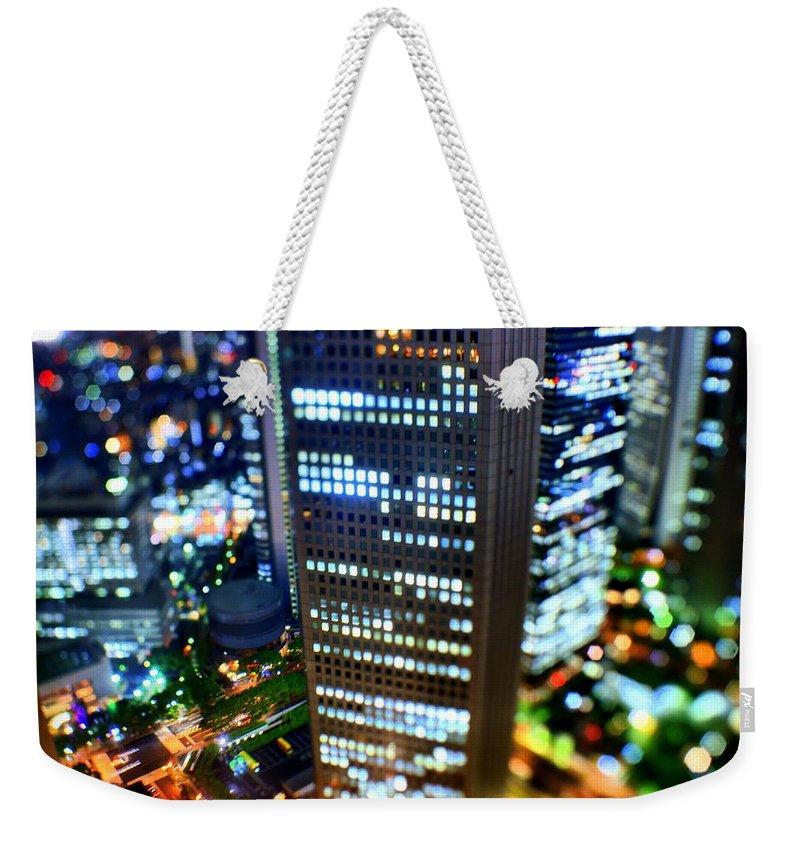 Built Structure Weekender Tote Bag featuring the photograph Shinjuku by Takashi Kitajima