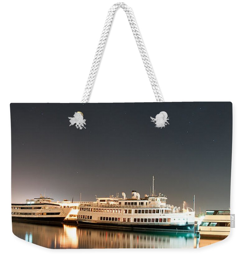 Ship Weekender Tote Bag featuring the digital art Ship by Gandz Photography