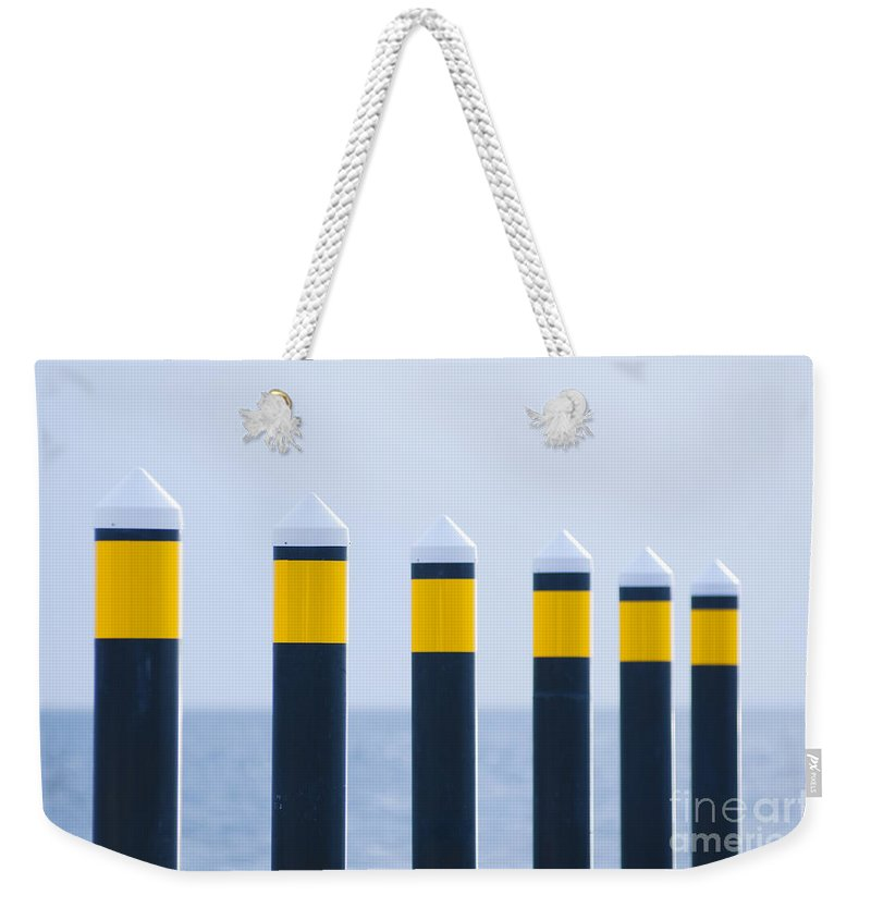 Nautical Weekender Tote Bag featuring the photograph Ship Guides by Tim Hester