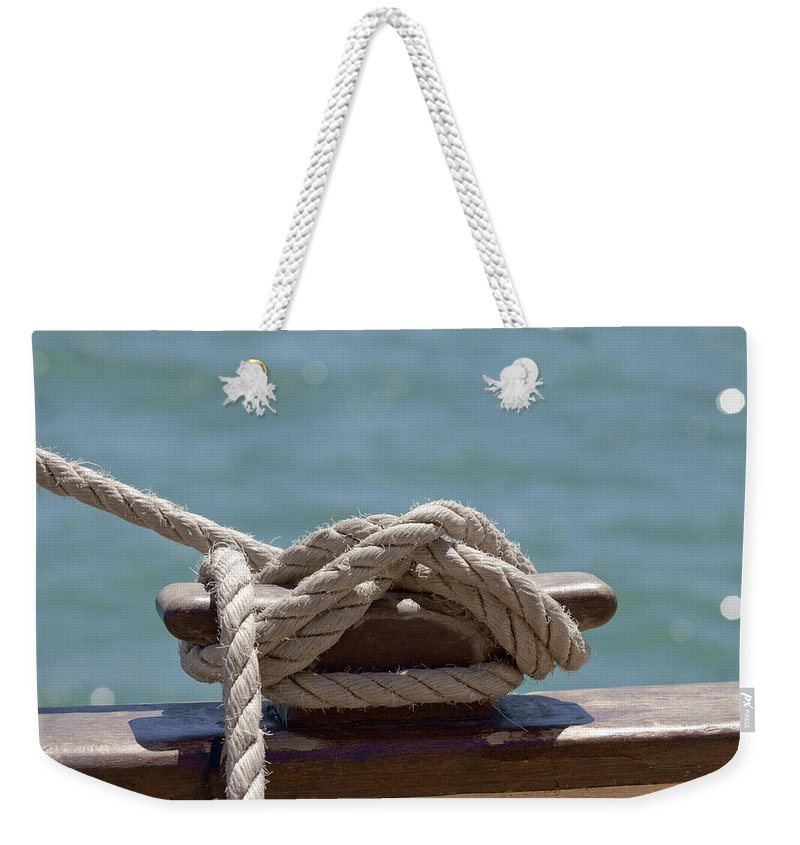 Ship Weekender Tote Bag featuring the photograph Ships Rigging I by Michelle Wrighton