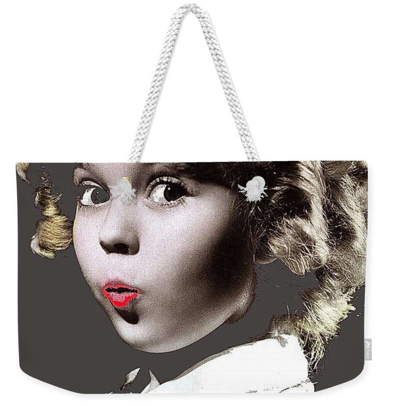 Shirley Temple Publicity Photo Circa 1935-2014 Weekender Tote Bag featuring the photograph Shirley Temple Publicity Photo Circa 1935-2014 by David Lee Guss