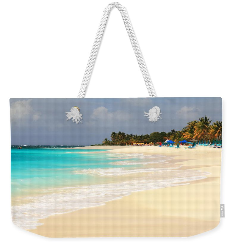 Shoal Bay Weekender Tote Bag featuring the photograph Shoal Bay Beach by Roupen Baker