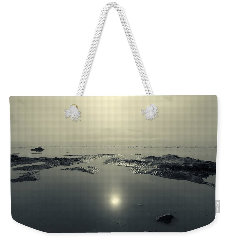 Turnagain Arm Weekender Tote Bag featuring the photograph Shock Wave by Ted Raynor