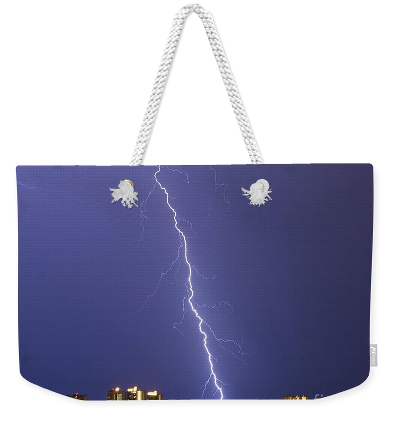 Bolt Weekender Tote Bag featuring the photograph Shocking Sand Key by Stephen Whalen