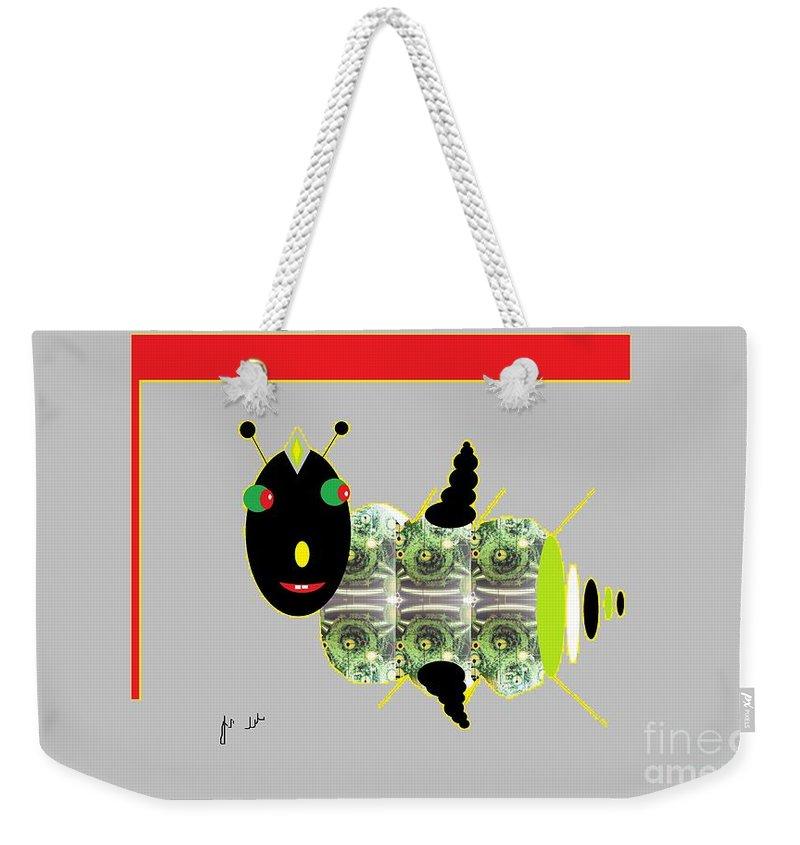 Fly Weekender Tote Bag featuring the digital art Shoofly by Ann Calvo