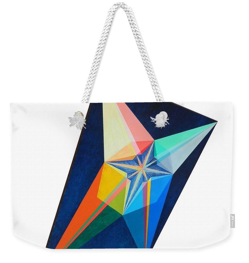 Spirituality Weekender Tote Bag featuring the painting Shot Shift - Etoile 1 by Michael Bellon