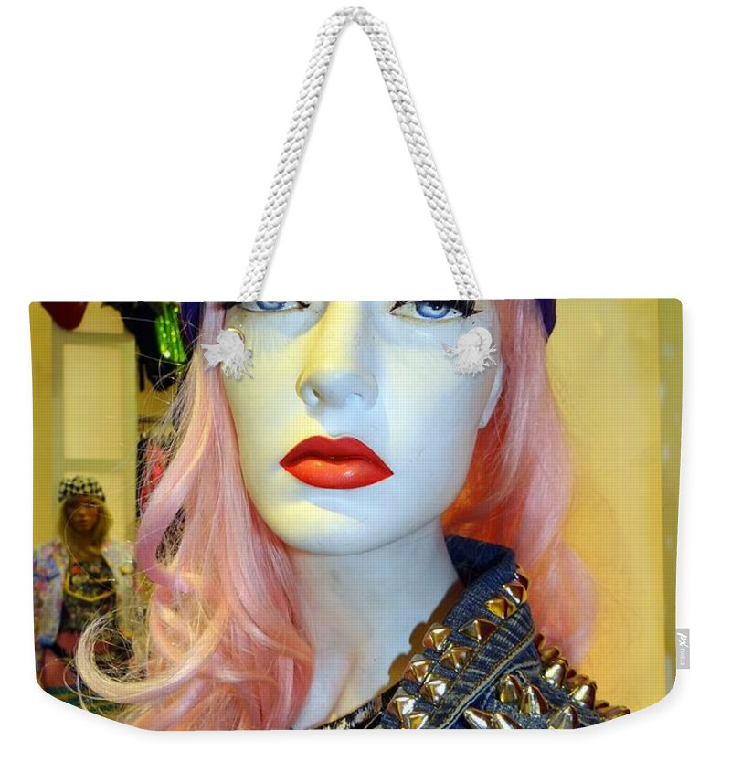 Mannequins Weekender Tote Bag featuring the photograph Shoulder Studs by Ed Weidman