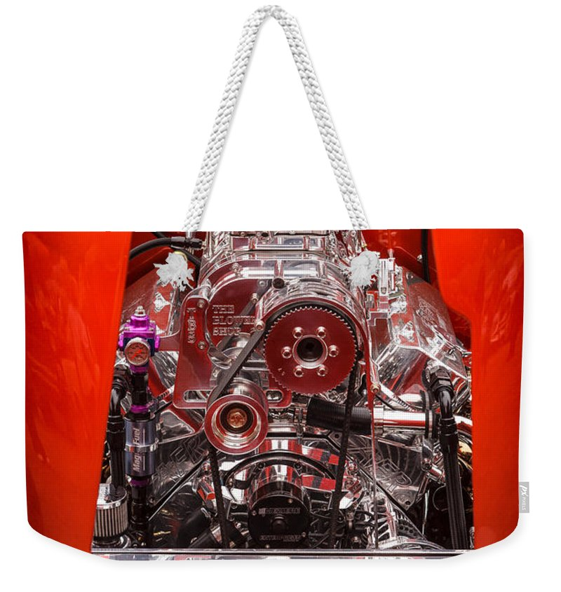 Engine Weekender Tote Bag featuring the photograph Show Car 1 by Mike Penney