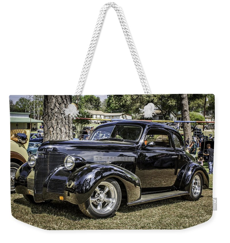 Car Weekender Tote Bag featuring the photograph Showin' Off by Sandi Cintron