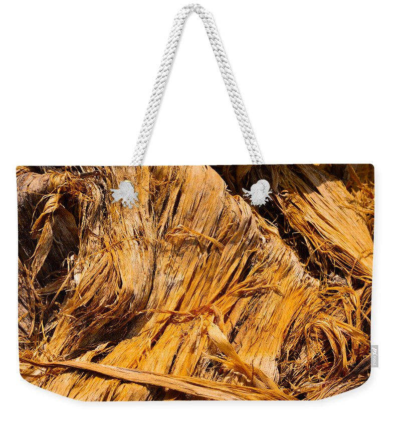 Bark Weekender Tote Bag featuring the photograph Shredded Bark by Brent Dolliver