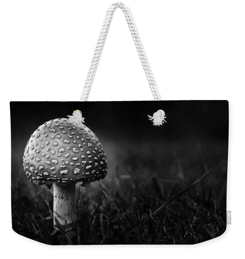 Mushroom Weekender Tote Bag featuring the photograph Shroom by Shane Holsclaw