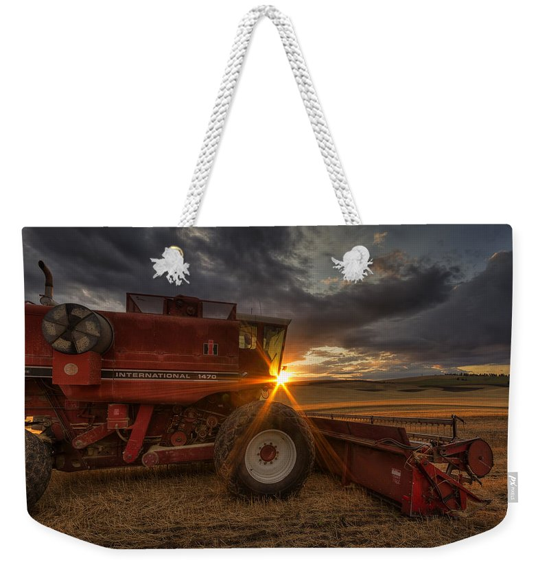 Mark Kiver Weekender Tote Bag featuring the photograph Shut Down by Mark Kiver