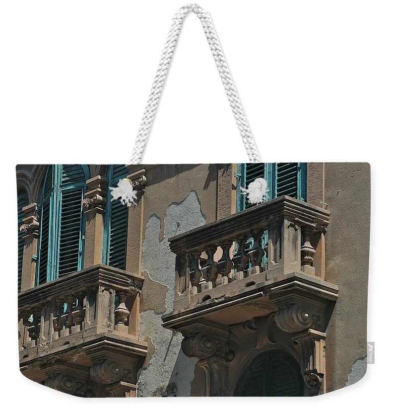 Architecture Weekender Tote Bag featuring the photograph Side Street by Joseph Yarbrough