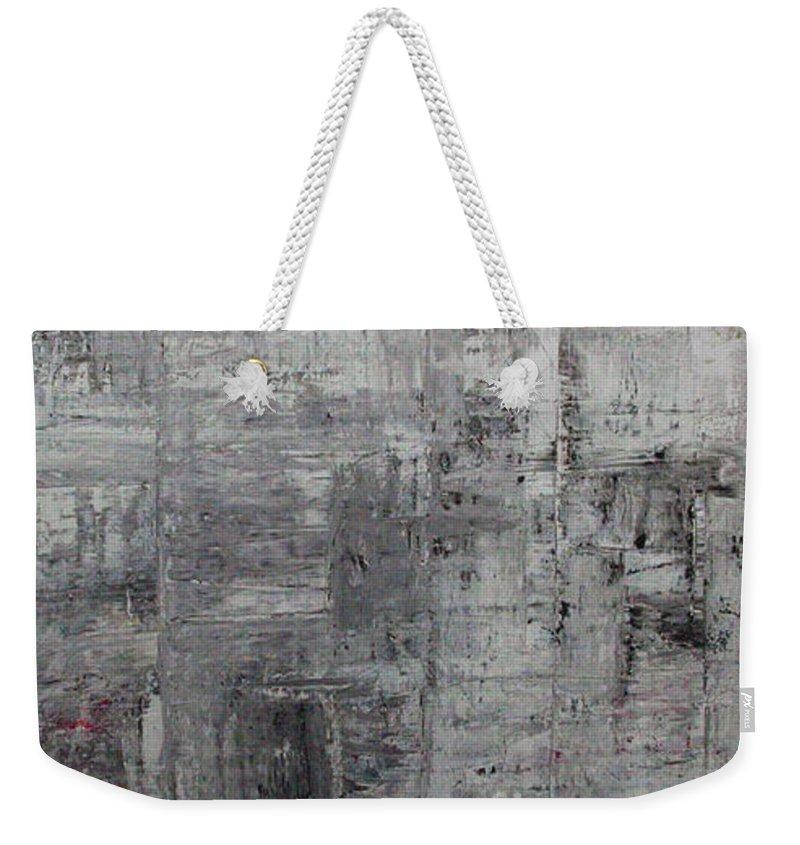 Manhattan Weekender Tote Bag featuring the painting Sidewalk by Pamela Canzano