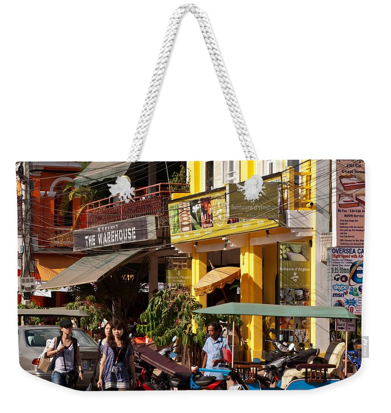 Cambodia Weekender Tote Bag featuring the photograph Siem Reap 03 by Rick Piper Photography