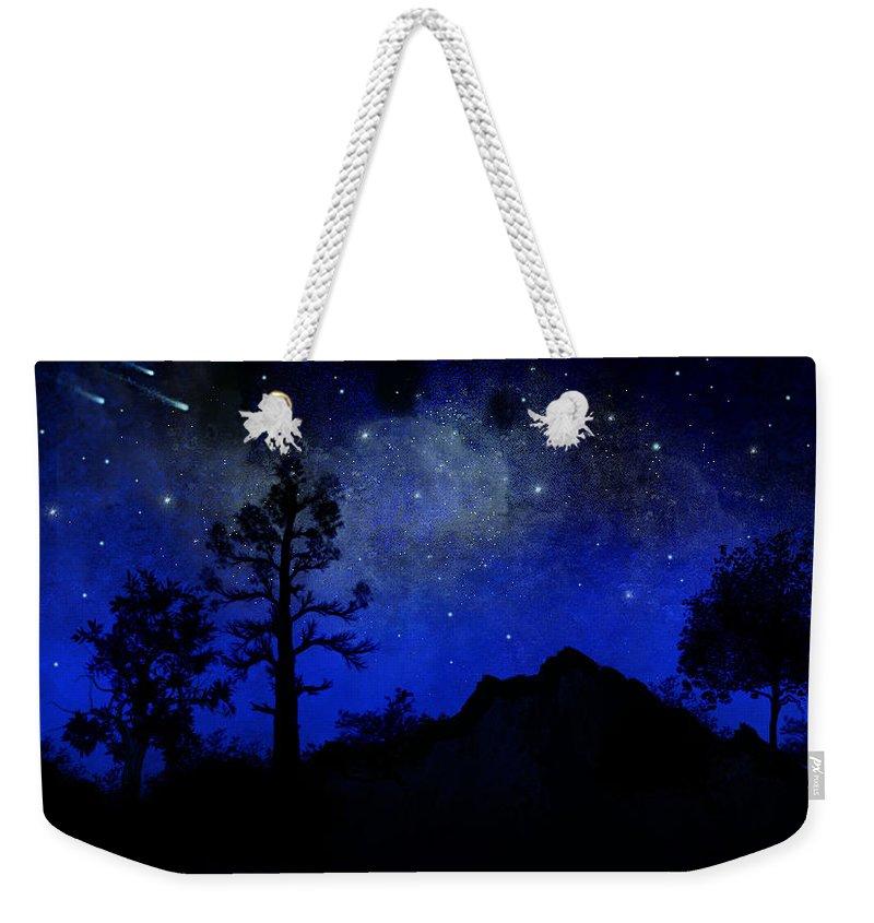 Sierra Silhouette Weekender Tote Bag featuring the painting Sierra Silhouette Wall Mural by Frank Wilson