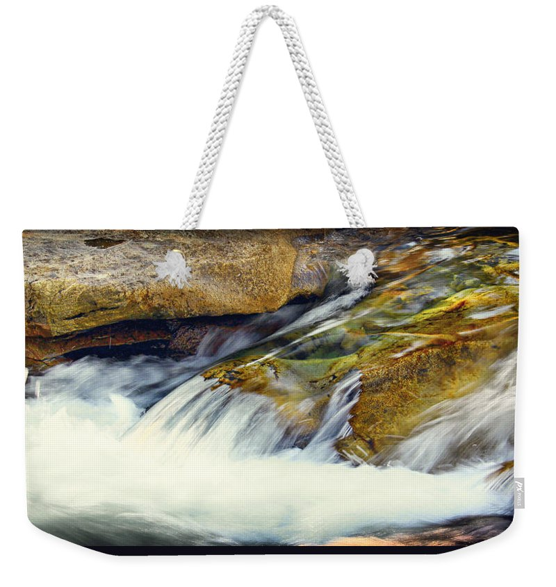 Water Weekender Tote Bag featuring the photograph Sierra Snow Melt by Shawn McMillan