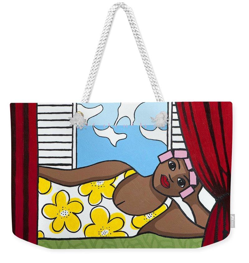Trudie Canwood Weekender Tote Bag featuring the painting Siesta 2 by Trudie Canwood