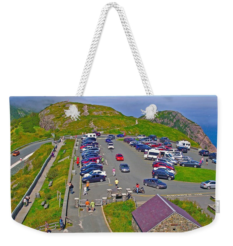 Signal Hill National Historic Site In Saint John's Weekender Tote Bag featuring the photograph Signal Hill National Historic Site In Saint John's-nl by Ruth Hager
