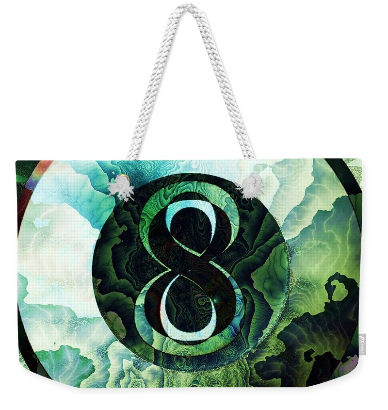 Fractal Art Weekender Tote Bag featuring the digital art Signs Point To Yes by Elizabeth McTaggart