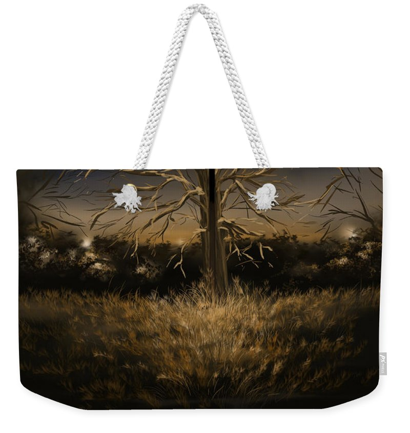 Reflection Weekender Tote Bag featuring the digital art Silence by Veronica Minozzi