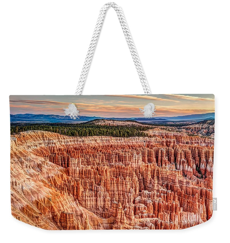 Silent City Weekender Tote Bag featuring the photograph Silent City @ Sunrise by George Buxbaum