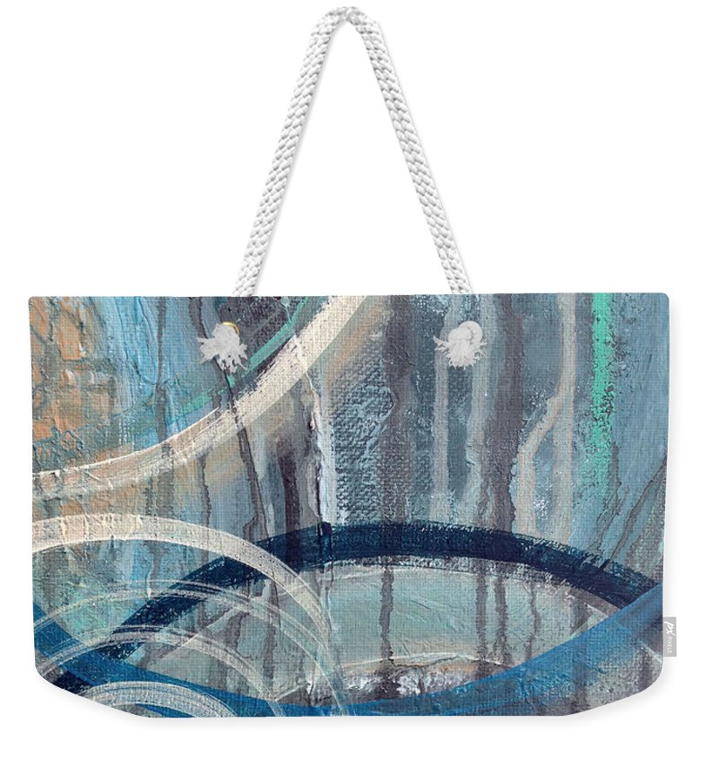 Abstract Weekender Tote Bag featuring the painting Silent Drizzle II by Ruth Palmer