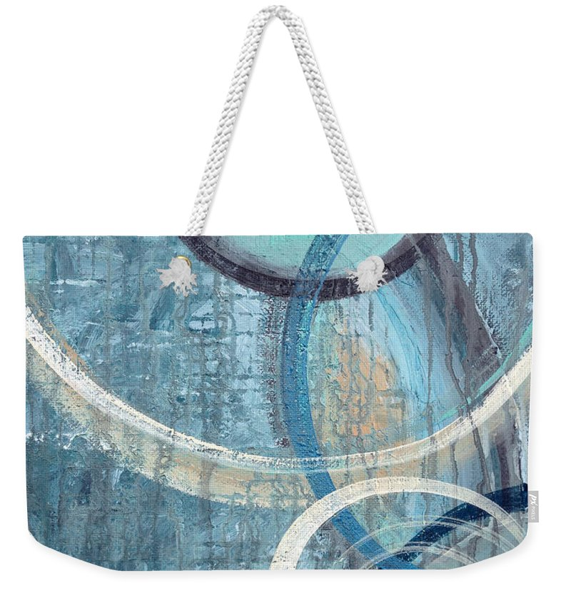 Abstract Weekender Tote Bag featuring the painting Silent Drizzle by Ruth Palmer