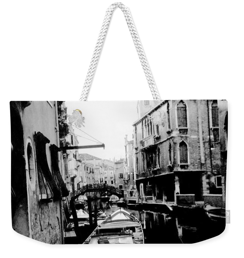 Venice Weekender Tote Bag featuring the photograph Silenzio Venice Italy by Heike Hellmann-Brown