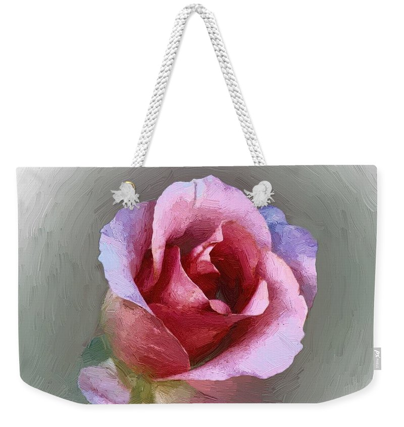 Floral Weekender Tote Bag featuring the painting Silk And Satin by RC DeWinter