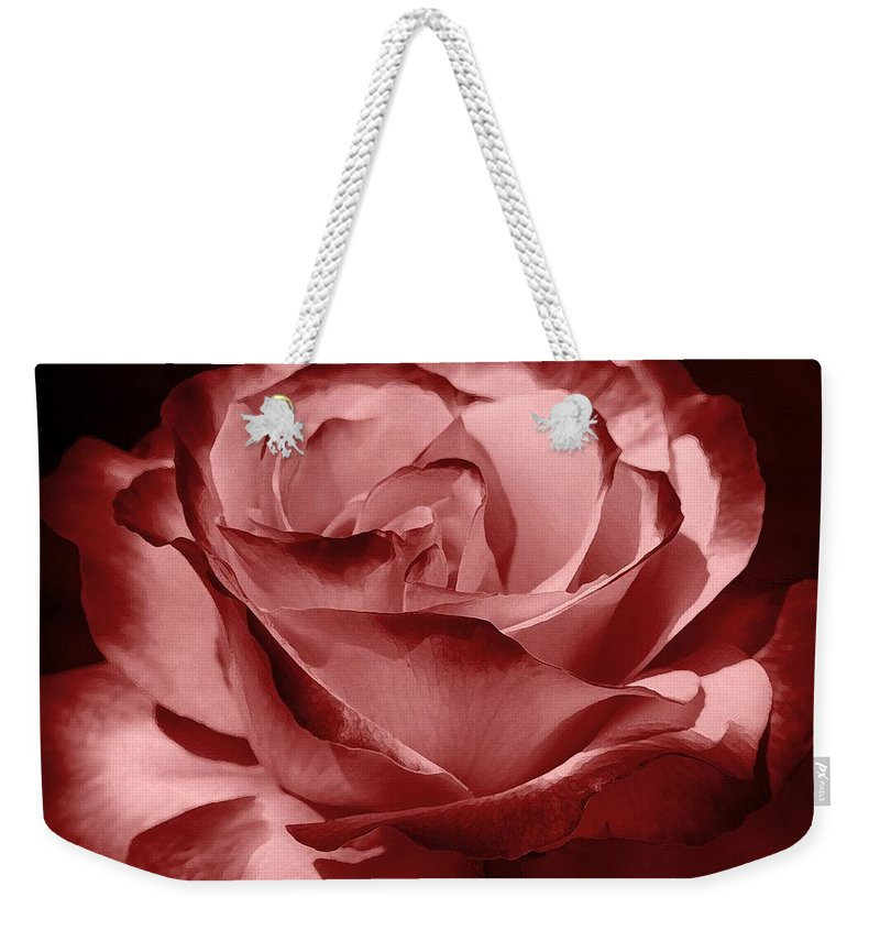 Rose Weekender Tote Bag featuring the photograph Silk by Athala Carole Bruckner