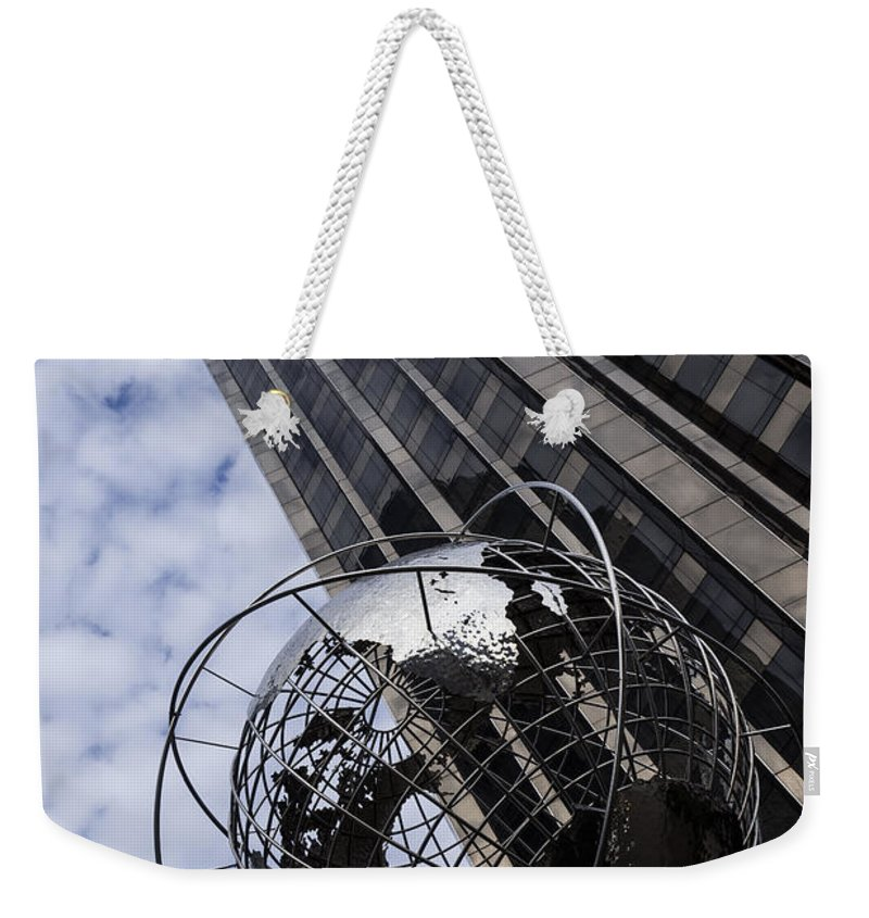 Planet Earth Weekender Tote Bag featuring the photograph Silver And Blue Planet Earth by Georgia Mizuleva