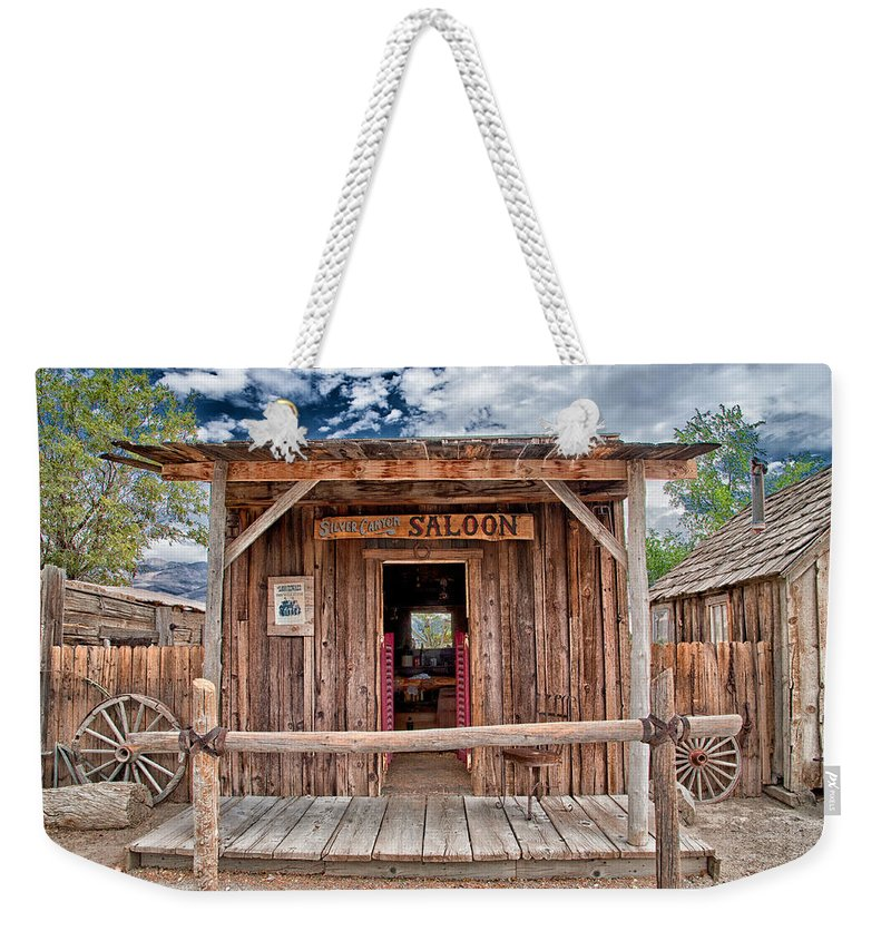 Saloon Weekender Tote Bag featuring the photograph Silver Canyon Saloon by Cat Connor