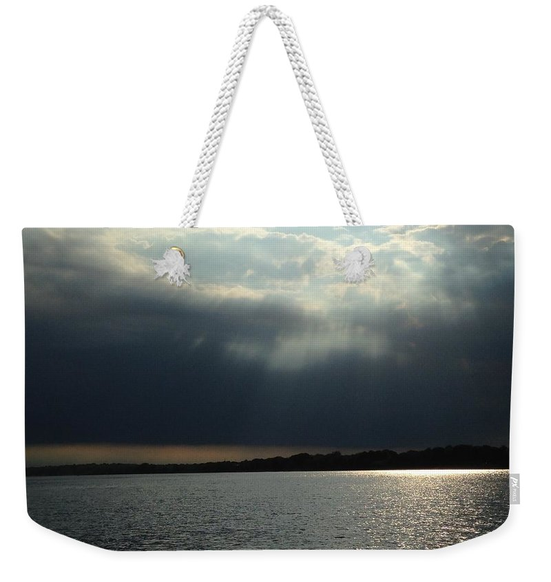 Water Weekender Tote Bag featuring the photograph Silver Lining by Sheila Mashaw