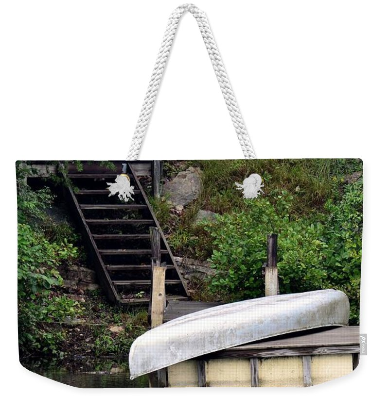 Silver Summer's End Weekender Tote Bag featuring the photograph Silver Summer's End by Maria Urso