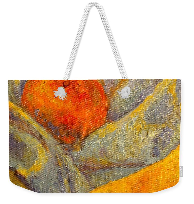 Fruit Weekender Tote Bag featuring the painting Simple Life by Kendall Kessler