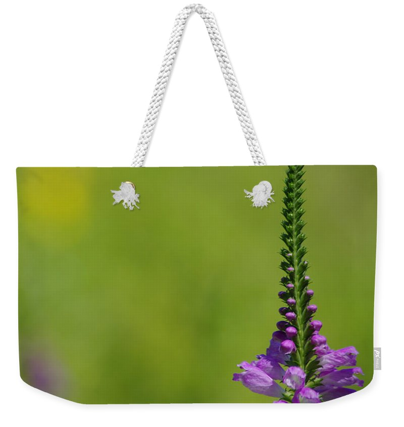 Purple Weekender Tote Bag featuring the photograph Simplicity by Jenny Gandert