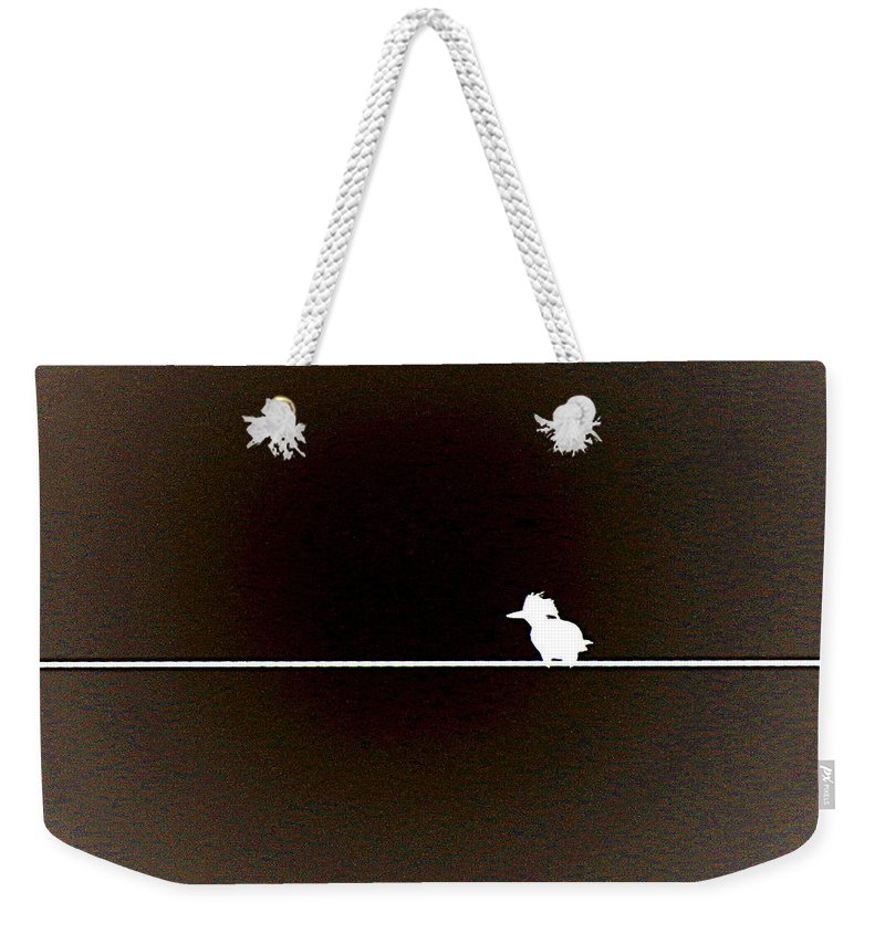 Kingfisher Weekender Tote Bag featuring the photograph Simplicity by T Guy Spencer
