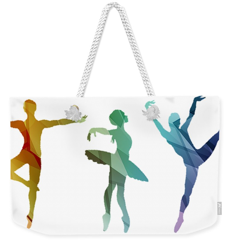 Life Weekender Tote Bag featuring the mixed media Simply Dancing 3 by Angelina Vick