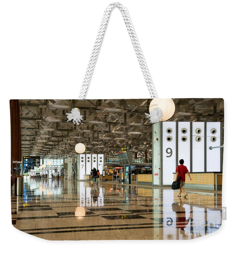Singapore Weekender Tote Bag featuring the photograph Singapore Changi Airport 03 by Rick Piper Photography