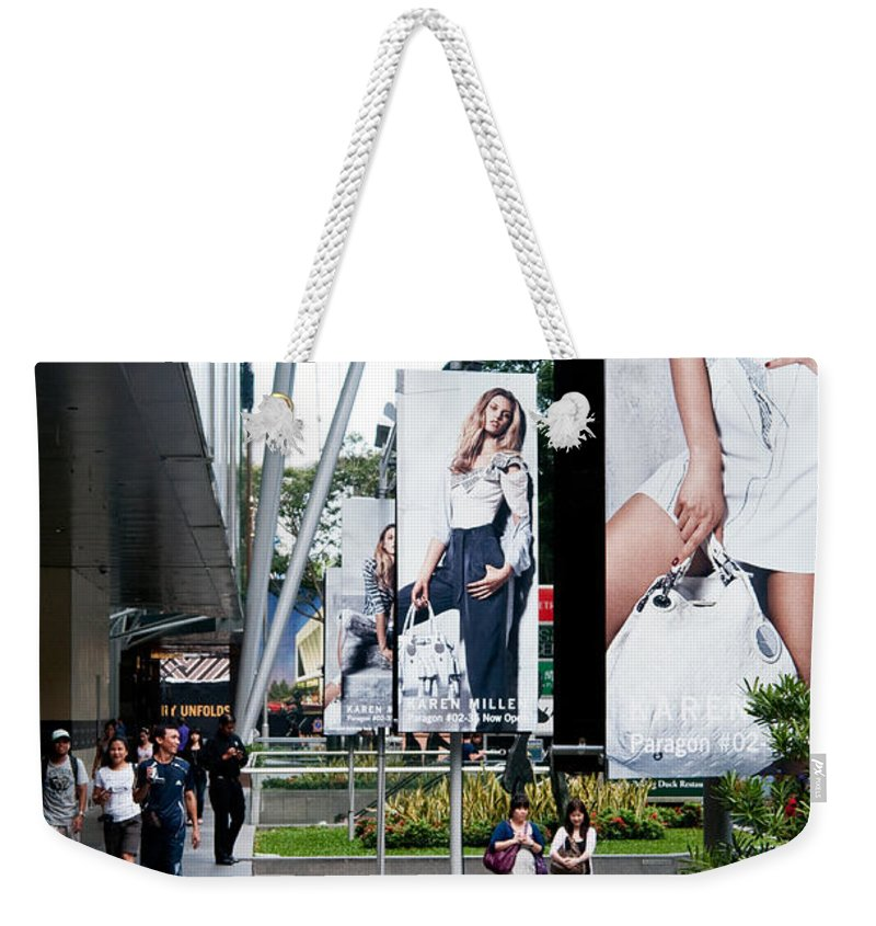 Singapore Weekender Tote Bag featuring the photograph Singapore Orchard Road 02 by Rick Piper Photography