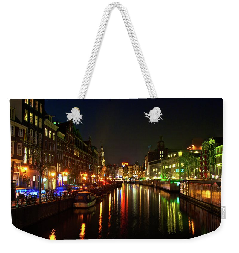 Amsterdam Weekender Tote Bag featuring the photograph Singel Subdued by Jonah Anderson