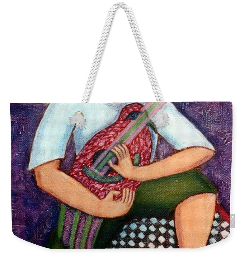 Children Weekender Tote Bag featuring the painting Singing Dreams by Madalena Lobao-Tello