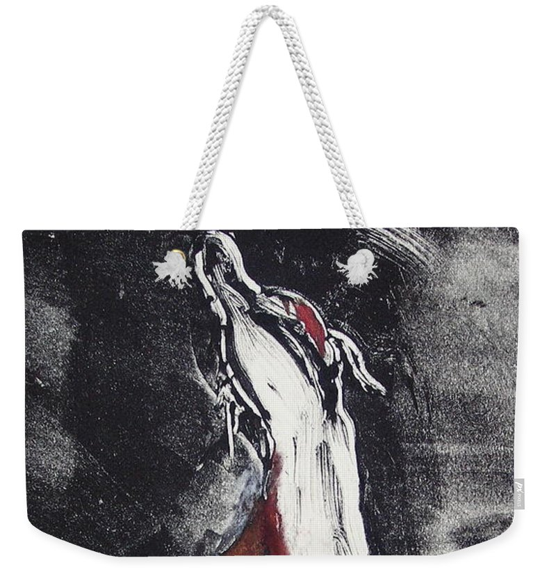 Framed Weekender Tote Bag featuring the mixed media Singing For Joy by Cori Solomon